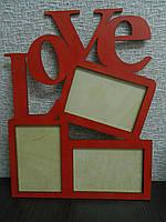 "Фоторамка из фанеры ""Love"""