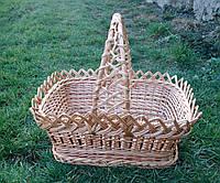 Корзина прямоугольная плетеная, фото 1
