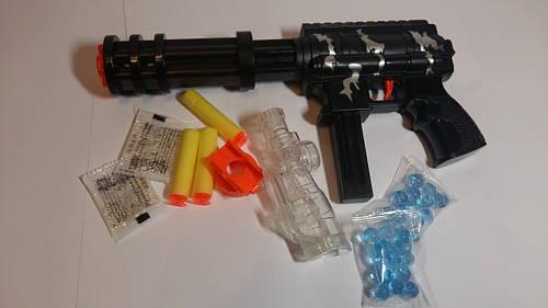 Пистолет Супер-героя 6 стволов водяные и паралоновые пули