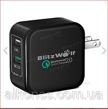 Зарядное устройство BlitzWolf QC2.0 2.4A 30 Вт Qualcomm