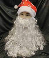 Борода Деда Мороза большая 45х45 см