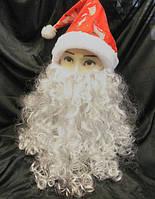 Борода Деда Мороза большая 35х35 см
