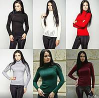 Гольфик женский ,ткань ангора, цвет белый, черный, красный, бордо, зеленый и серый аа № 729