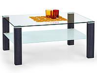 Журнальный стеклянный столик Halmar Simple венге