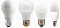Светодиодные лампы с цоколем E14, E27