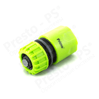 Коннектор для шланга с аквастопом 1/2 № 5810 green