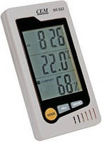 Гигрометр-термометр DT-322 (c часами, будильником и календарем)