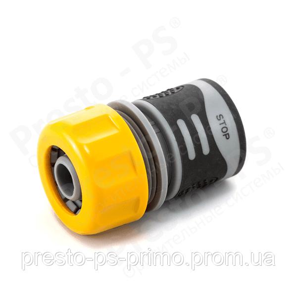 Коннектор для шланга с аквастопом с резиновым покрытием 3/4 № 4112Т (30шт)