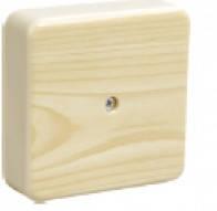 Коробка КМ41216-04 распаячная для о/п 75х75х28 сосна(с конт. гр.)