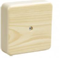 Коробка КМ41216-05 распаячная для о/п 75х75х28мм дуб (с конт.гр) IEK (UKO10-075-075-028-K24)