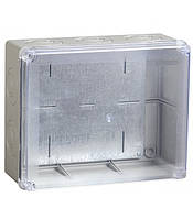 Коробка КМ41346 распаячная для о/п 240х195х90 мм IP55 (RAL7035, монт. плата, кабельные вводы 5 шт)