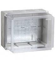 Коробка КМ41348 распаячная для о/п 240х195х165 мм IP55 (RAL7035, монт. плата, кабельные вводы 5 шт)