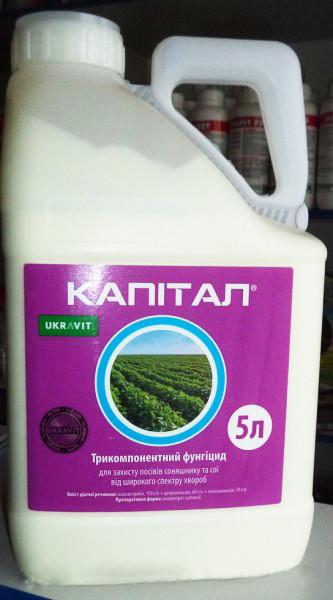 Фунгицид КАПИТАЛ, КС,(Квадріс) Укравит Азоксистробін, 150 г/л + ципроконазол, 60 г/л + епоксиконазол, 50 г/л.