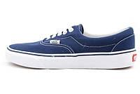 Женские кеды Vans Era (ванс, ванс эра) низкие синие