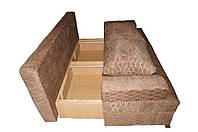 Перетяжка и ремонт диванов угловых без подлокотников