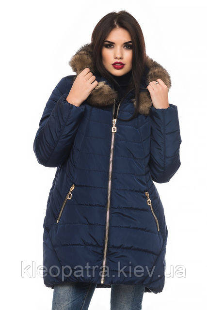 Женская зимняя куртка парка Барбара батал