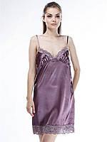 Ночная сорочка шелковая Serenade 342 Сливовый
