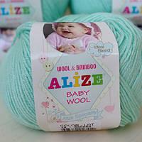 Нитки для вязания Baby Wool полушерсть желтый