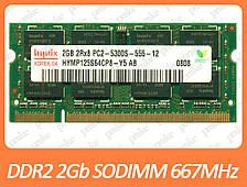 DDR2 2GB 667 MHz (PC2-5300) SODIMM разные производители