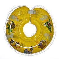 Дитячий круг на шию для купання Delfin EuroStandard жовтий