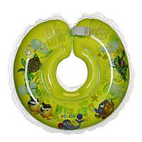 Дитячий круг на шию для купання Delfin EuroStandard зелений