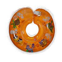 Дитячий круг на шию для купання Delfin EuroStandard оранжевий