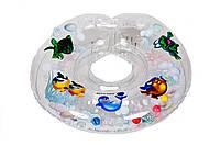 Дитячий круг на шию для купання Delfin EuroStandard прозорий