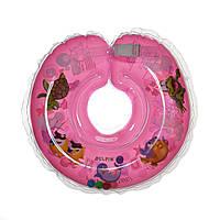 Дитячий круг на шию для купання Delfin EuroStandard рожевий