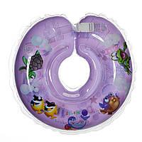 Дитячий круг на шию для купання Delfin EuroStandard фіолетовий