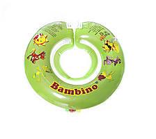 Дитячий круг на шию для купання Bambino зелений