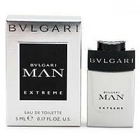 Мужская туалетная вода Bvlgari Man Extreme for Men Eu de Toilette (EDT) 5ml, Mini (мини, миниатюра), фото 1
