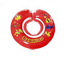 Дитячий круг на шию для купання Bambino червоний