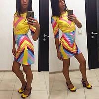 Очень яркое женское летнее платье Valentino