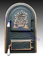 """Дверцы печные со стеклом """"Пальма"""". Дверцы для кухни, барбекю"""