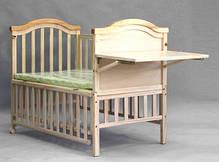 Детская кроватка Geoby LMY632-H453 на колесиках, фото 2