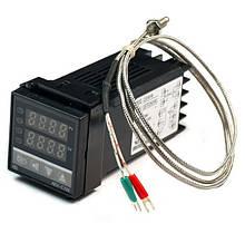 Контроллер температуры REX-C100  0-400°С (выход контакт реле)+термопара