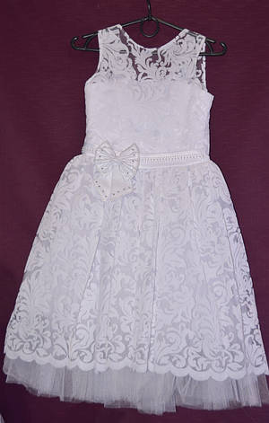 Платье бальное детское Гипюр Бархат 6-8 лет, фото 2