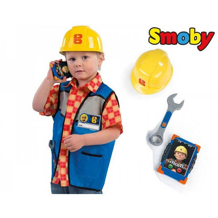 Жилет с каской Bob the Builder Smoby 380300, фото 2