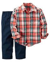 Комплект для мальчика Carters с рубашкой, Размер 2T, Размер 2T