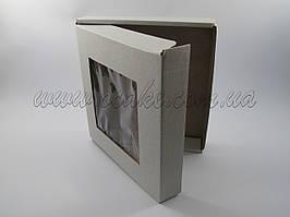 Коробка с откидной крышкой 155*152*26 мм