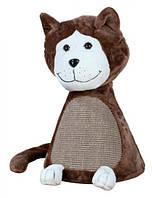 Домик Trixie 4340 Guiseppe меховой с когтеточкой коричневый, фото 1