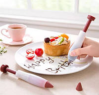 Шприц для малювання шоколадом глазур'ю або кремом 13см SKU0000433, фото 1