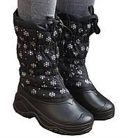 Женские зимние дутики-сноубутсы непромокаемые и очень теплые из ЕВА пены с меховым валенкомутеплителем р.37-42