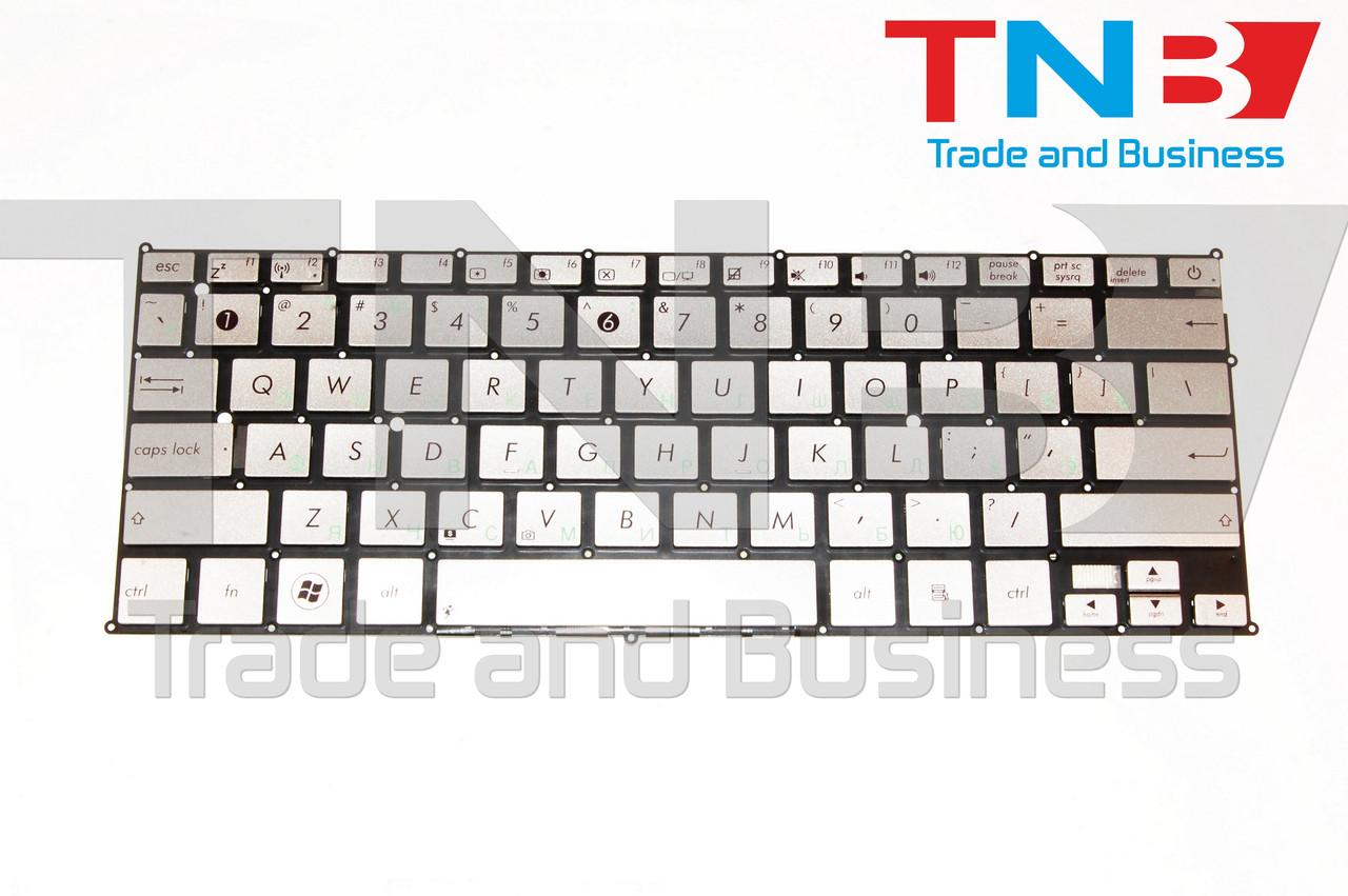 Клавиатура ASUS UX21 UX21A UX21E серебристая Тип1