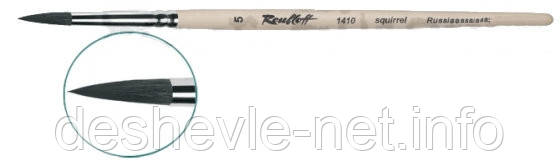 Кисть білка кругла, серія 1410, ручка коротка, Roubloff № 7, фото 2