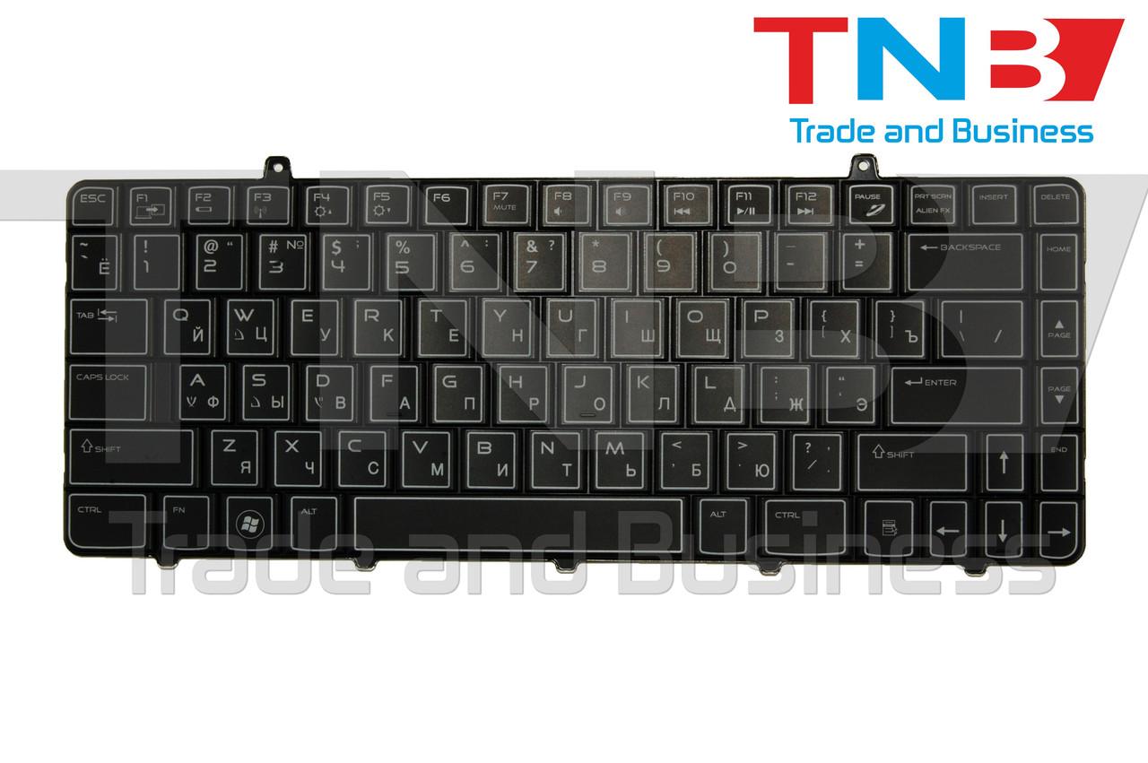 Клавиатура Dell Alienware M11X R2, R3 черная с подсветкой RU/US