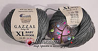 Пряжа Бэби вул XL Baby Wool XL Gazzal, 818, т. серый