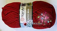 Толстая пряжа Альпина макси Alpine Maxi YarnArt, № 667, т. красный