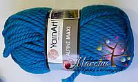 Толстая пряжа Альпина макси Alpine Maxi YarnArt, № 671, голубая бирюза