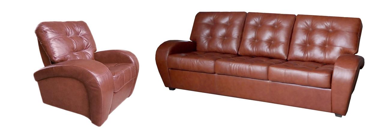 Комплект кожаной мебели Винс. (3р+1)